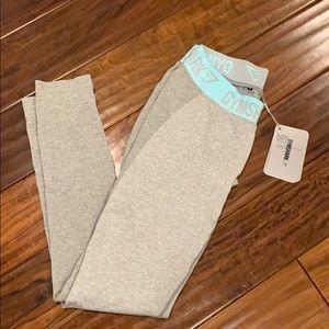 Gymshark Grey/Blue Flex Leggings